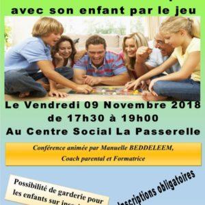 Conférence: La parentalité ludique ou comment communiquer avec son enfant par le jeu